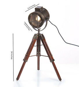 Designer Spot Light marine nautical Searchlight With Tripod Stand Spotlight