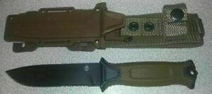 Gerber StrongArm Fixed Blade Knife Brown Partially Serrated *BRAND NEW IN BOX*
