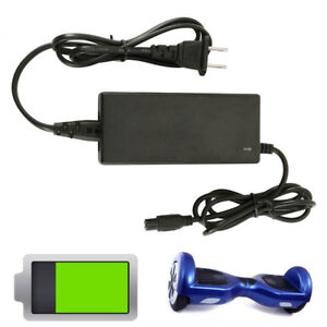 42V 2A AC Adapter Power Charger For 2-Wheel Self Balancing Hoverboard Scooter US