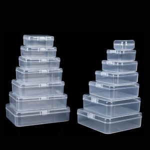 Clear Plastic Box Case For Jewelry Beads Craft Screw Tools Parts Storage 17 Size $3.04