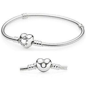 Authentic Pandora HEART Clasp Bracelet Sterling Silver CZ#590719 With Box