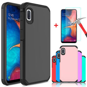 For Samsung Galaxy A10e A20 A50 Case Cover Armor With HD Glass Screen Protector