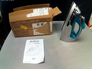 Sunbeam Steam Master Iron with Retractable Cord - Chrome & Teal