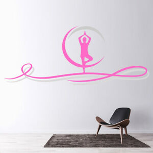 Yoga Beauty Meditation Exercise Wall Decal Sticker WS 45645