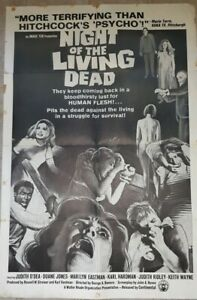 Night Of The Living Dead ORIGINAL Movie Poster Pittsburg Version Black and White