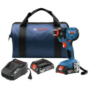 Bosch GDX18V 1600B12 RT 18V 1 4quot; 1 2quot; Impact Driver Kit Certified Refurbished $86.99