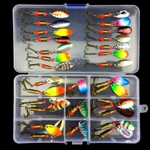 Lot 30Pcs Metal Fishing Lures Spinner Spoon Baits Hooks Tackle Saltwater HOT US