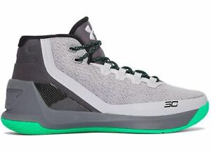Under Armour Men's Curry 3 Athletic Basketball Shoes GreyBlackGreen