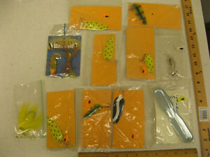 LOT Lures Spoons Spinners Fish Scaler Bait Treble Hook Stanley Vibra Shaft NEW