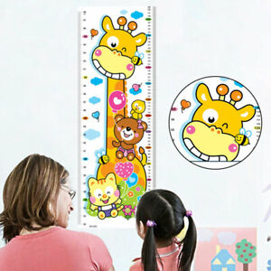 Giraffe Height Chart Measure Wall Sticker Kids Baby Room Nursery Decor Removable