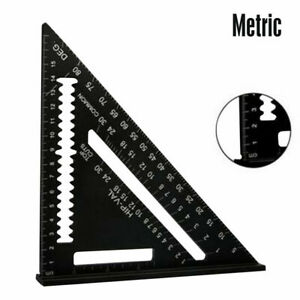 7#x27;#x27; Aluminum Speed Square Triangle Ruler Protractor Miter Framing Measuring $8.61
