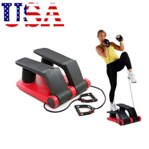 Air Stepper Climber Exercise Fitness Thigh Workout Machine  WCD Resistant Cord