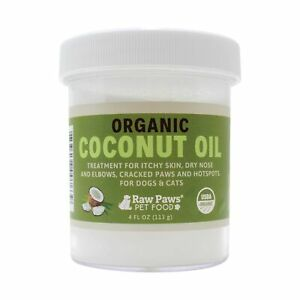 Raw Paws Organic Coconut Oil for Dogs amp; Cats Treatment for Itchy Skin Dry