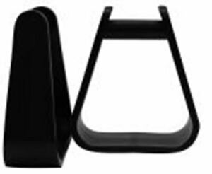 Black Durable Molded Plastic Western Saddle Stirrups Repalcement Child Youth