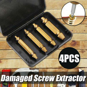 Broken Damaged Bolt Remover Speed Out Screw Extractor Drill Bits Guide Set