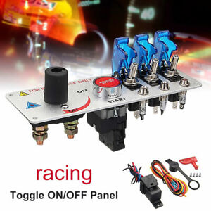 12V Auto LED Toggle Ignition Switch Panel Racing Car Engine Start Push Set Loud $27.01