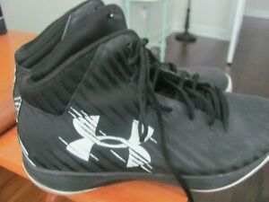 Under Armour High Top Basketball Shoes Mens Black Size 14 NICE  SALE