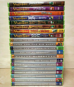 Lot of 20 Veggie Tales DVDs Big Idea Christian Values Kids All Brand New