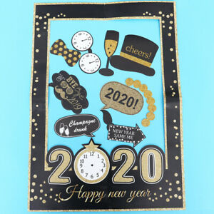 27x 2020 Happy New Year Photo Props Frame Photography Accessories for Home Party