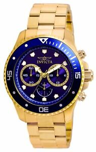 Invicta 21789 Pro Diver Men's Chronograph 45mm Stainless Steel Blue Dial Watch