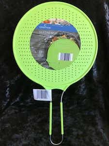Silicone Splatter Guard Green Cooking Lid Skillet Frying Pan Cover Screen Round