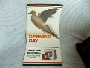 Vintage 1970s Winchester Poster Sign Dove Opening Day Unused