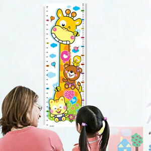 Cartoon Giraffe Height Chart Measure Wall Sticker Decal Decor Removable