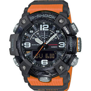 New Casio G-Shock Mudmaster Carbon Core Guard Orange Strap Mens Watch GGB100-1A9