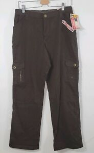 Lee Relaxed Fit Flexible Comfort Waistband Brown Size 10 Medium Stretch Jeans