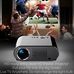 Full HD 720P Home Theater LED LCD Mini Multimedia Projector Cinema USB TV HDMI 7