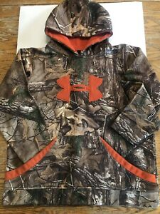 BOYS UNDER ARMOUR CAMO REAL TREE LOOSE HOODIE SWEATSHIRT SIZE YLG $14.95