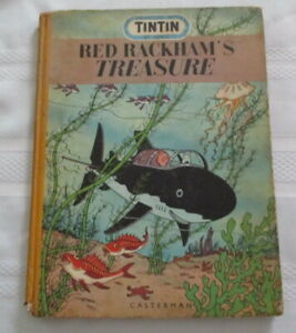 Rare TinTin By Herge Red Rackham's Treasure 1st English Edition Casterman