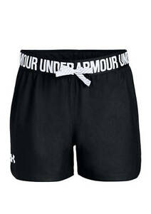 Under Armour Girl's Play Up Shorts - Black - Youth XSmall -1341127-001 - NEW!