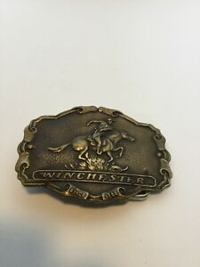 antique winchester Tiffany belt buckle