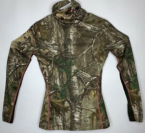 Women's Under Armour Sz SM Cold Gear EVO Realtree Hunting Pullover Layering Top