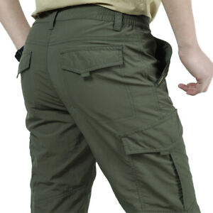 US Tactical Work Cargo Pants Mens Casual Combat Quick Dry Camo Outdoor Trousers