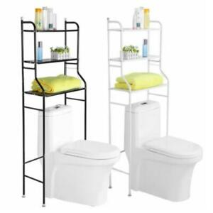 3 Shelf Over The Toilet Bathroom Space Saver Metal Towel Storage Rack Organizer