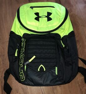 Under Armour Storm 1 Backpack Black NEON Heat Gear Book Bag School Laptop