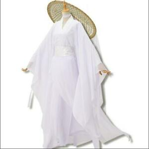 Costume Fairy Ancient Chinese Womens Dance Dress Cosplay White Dresses Sets