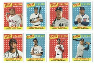 2019 Topps Archives High Number SP Sport Magazine All Star Card Set 10 Trout