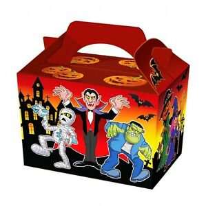 Halloween Spooky Food Box Party Birthday Lunch Snack Treat Boxes