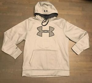 Under Armour Cold Gear Storm1 Pullover Hoodie Sweatshirt Gray Men's Size XL NWOT