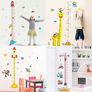 Removable Height Chart Measure Wall Sticker Decal Kids Baby Room Giraffe RockXL
