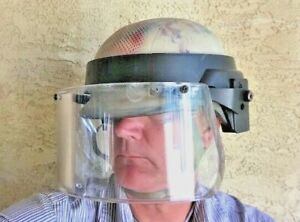 US Military Issue PASGT Combat Helmet w/ Bullet Proof Ballistic Face shield