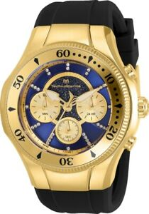 Technomarine TM 118146 Cruise Men's 45mm Gold Tone Blue Gold Dial Watch