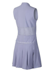 Nike Womens Flex Sleeveless Lace Golf Dress Purple AV3668 506 New