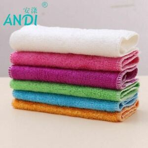 5pcs 100% Pure Bamboo Fibre Dish Cloth Oilproof Non-sticking Double-deck Waste-a