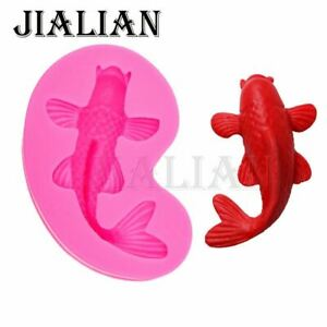 HOT Selling 3D Marine life fish Mould DIY Fondant silicone molds Kitchen Cake de