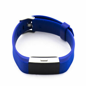 Fitbit Charge 2 Heart Rate Activity Tracker Wristband Large Blue - FB407SBUL