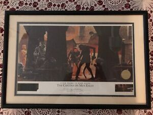 STAR WARS  Ralph McQuarrie The Cantina on Mos Eisley signed Lithograph